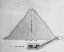 Menkaure small Pyramid 7 - by E.J. Andrews, 1842