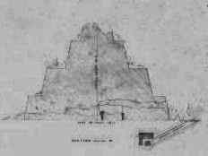 Menkaure small Pyramid 8 - by E.J. Andrews, 1842