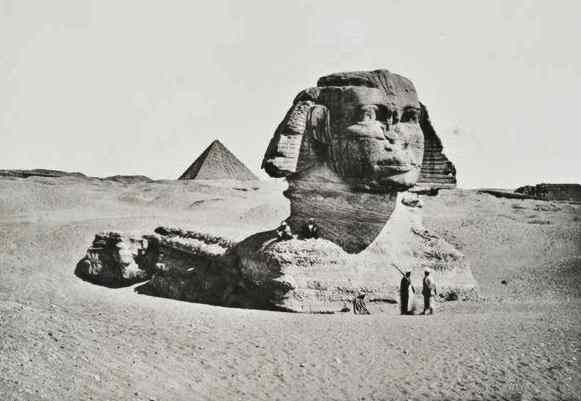 The face of the Sphinx is serious and calm.